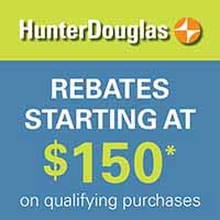 Rebates starting at $150 during our Smart Shades Savings Event.